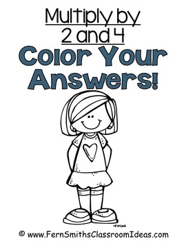 Color By Numbers Multiplication with 2 and 4 Color By Code