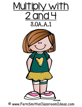 Multiplication with 2 and 4 Center and Printables