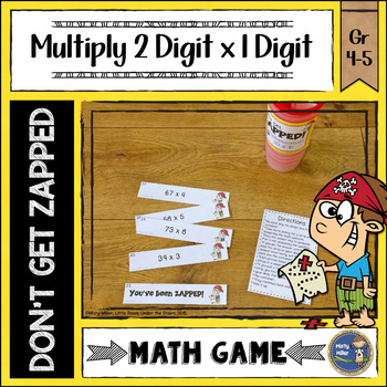 Multiplication  2 Digit Times 1 Digit ZAP Math Game