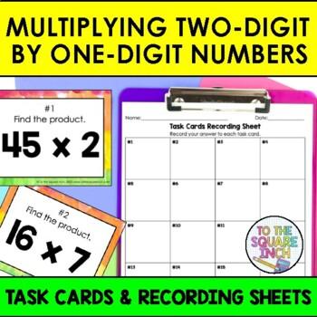 Multiplying 2-Digit by 1-Digit Numbers Task Cards