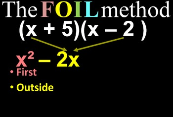 Multiplying Binomials with FOIL - Animated Powerpoint