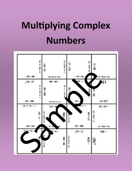 Multiplying Complex Numbers – Math puzzle