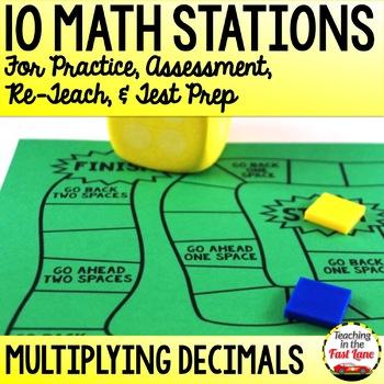 Multiplying Decimals Test Prep Math Stations