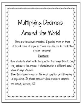 Multiplying Decimals Around the World
