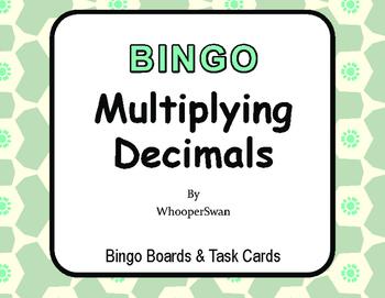 Multiplying Decimals BINGO and Task Cards
