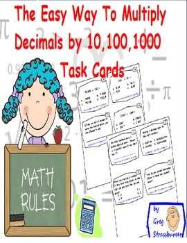 Common  Core-Multiplying Numbers By 10,100,1000 Made Easy