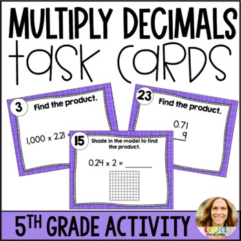 Multiplying Decimals DIFFERENTIATED Task Cards