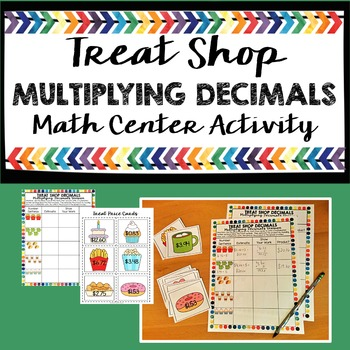 Multiplying Decimals Math Center Activity