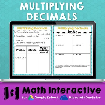 Multiplying Decimals Math Notes