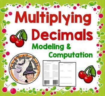 Multiplying Decimals Modeling and Computation Algorithm Worksheet
