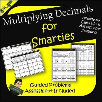 Multiplying Decimals Practice Worksheets Assessment- Multi