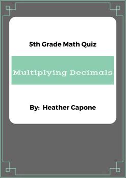 Multiplying Decimals Quiz