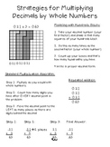 Multiplying Decimals Using Visual Models - poster freebie