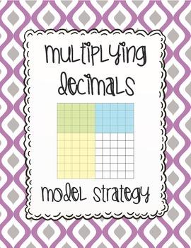 Multiplying Decimals Visual Model Strategy