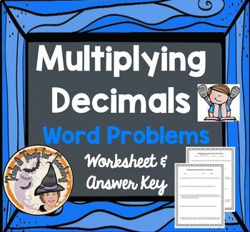 Multiplying Decimals Word Problems Worksheet... by Tricks and ...