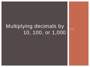 Multiplying Decimals by 10, 100, or 1,000 (5th Grade EnVis