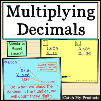 Multiplying Decimals for the Promethean Board