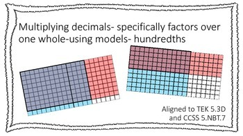 Multiplying Decimals with Models - factors over a whole TE