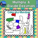 Multiply & Divide Decimals Math Practice Under the Sea Col