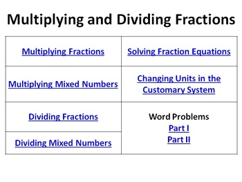 Multiplying Dividing Fractions Bell Ringers Mixed Numbers