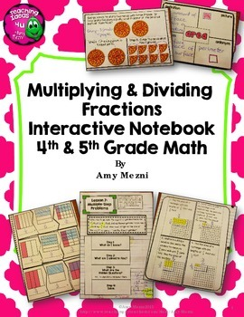 Multiplying & Dividing Fractions Interactive Notebook INB