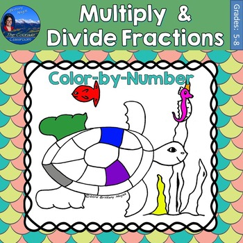 Multiply & Divide Fractions Math Practice Under the Sea Co