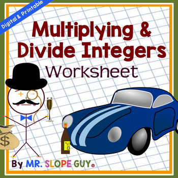 Multiplying & Dividing Integers Using Rules Common Core 7.