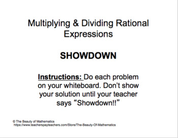 Multiplying & Dividing Rational Expressions - Check for Un