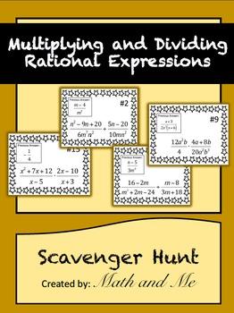 Multiplying/Dividing Rational Expressions Scavenger Hunt