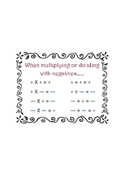 Multiplying & Dividing with Negatives