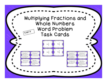 Multiplying Fraction and Whole Number Differentiated Word