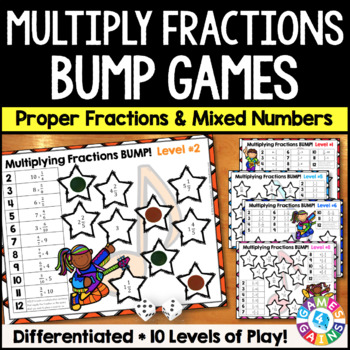 Multiplying Fractions Games : 10 Differentiated Multiplyin