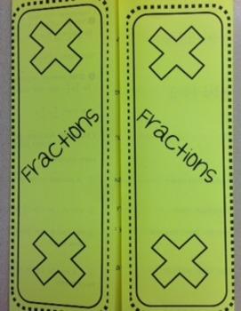 Fractions - Multiplying Foldable