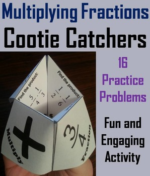 Multiplying Fractions Practice Activity Game for 4th 5th 6