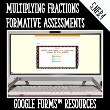 Multiplying Fractions DIGITAL TASK CARDS Google Classroom