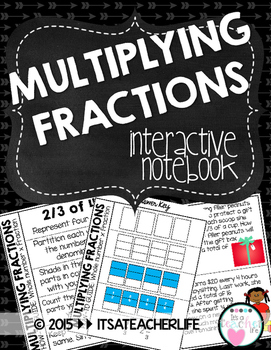 Multiplying Fractions Interactive Notebook (Growing Product!)