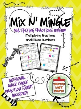 Multiplying Fractions: Mix n' Mingle Review *Individual Wo