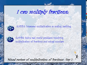 5. NF.6 Multiplying Fractions Mixed Review Word Problems 2