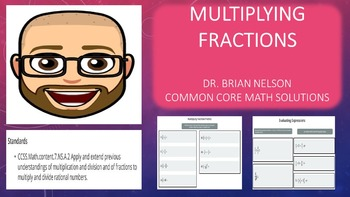 Multiplying Fractions Practice (PowerPoint Lesson with Pri