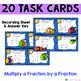 Multiplying Fractions Task Card