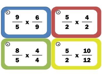 Multiplying Fractions Task Cards: Fraction-Multiplication