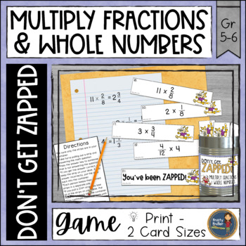 Multiplying Fractions and Whole Numbers ZAP Math Game