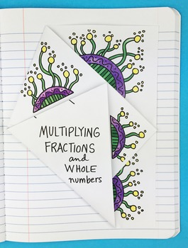 Multiplying Fractions and Whole Numbers Notebook Foldable