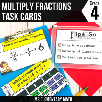 Multiplying Fractions by Whole Numbers - 4th Grade Math Fl