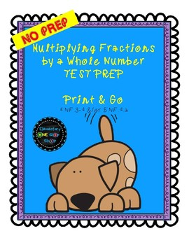 Multiplying Fractions by a Whole Number Study Guide OR Assessment