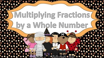 Multiplying Fractions by a Whole Number Task Cards ((Hallo