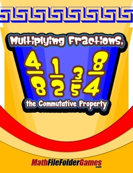 Multiplying Fractions, the Commutative Property {Math Game}