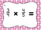 Multiplying Fractions with Unlike Denominators- Set of 20