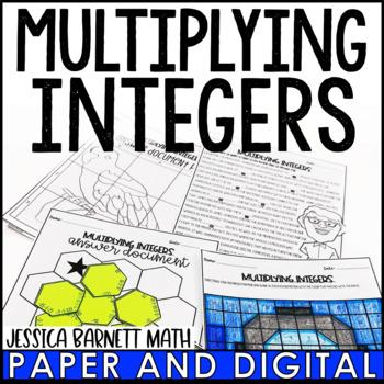 Multiplying Integers Lesson Bundle