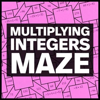 Multiplying Integers Maze + Bonus Mini Maze